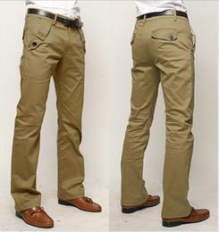 Wholesale Khaki Cargo Pants 36 - Wholesale- gentle mens trousers grey,black,khaki colors size 29-36 fitness business cargo casual pants free shipping