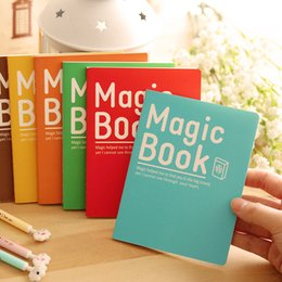 Wholesale Promotional Book - Wholesale- Cute Kawaii Korea Stationery Soft Notebook A6 Magic Book 6colors School Supplies Daily Writing Pad Promotional