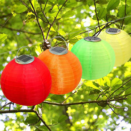Wholesale Christmas Light Solar Power Chinese - Solar Lantern Lights Christmas Light Solar Powered Chinese Lanterns Garden Light Wedding Holiday Waterproof Laterns Outdoor Hanging Lights