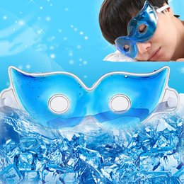 Wholesale Ice Circles - Ice Sleeping Eye Masks Summer Ice Goggles Relieve Eyeshade Cover Eyes Fatigue Remove Dark Circles Eye Gel Pads Eye Care Sleep Masks