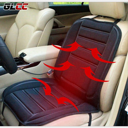 Wholesale Winter Car Seat Covers Cushions - GLCC Winter Car Heated Seat Pad Cover 12V 45W Electric Heated Cushion Car Seat Covers Universal Conjoined Supplies Black Color