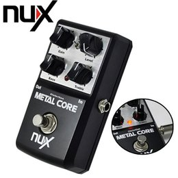 Wholesale Nux Pedals - Wholesale- NUX Metal Core Distortion Effect Pedal True Bypass Guitar Effects Pedal 2-Band EQ Tone Lock Preset Function