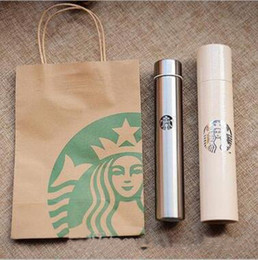 Wholesale Wholesale Starbucks Coffee Mugs - 300ML Classical Starbucks Stainless Steel Mug Starbucks Sucker Cup Starbucks Coffee Cup Long Bottle Thermal Insulation Water Bottle