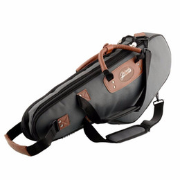 Wholesale Alto Saxophone Sax - Wholesale- Brand New Portable Soft Luxurious E Alto Sax Saxophone Travel Gig Bag Case Cover Gray Waterproof Durable High Quality
