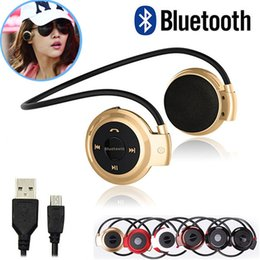 Wholesale Earphones For Radios - Newest Mini 503 Sport Bluetooth Wireless Headphones Music Stereo Earphones+Micro SD Card Slot+FM Radio Mini503 BH503