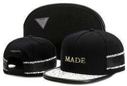 Wholesale Metal Snapback Hats - wholesale Cayler & Sons metal MADE leather gorras bones baseball caps snapback hats spring cotton hip hop for men women summer cap