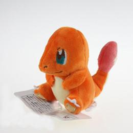 Wholesale Japanese Dolls Videos - Wholesale-10pcs lot 12cm Japanese Cartoon Charmander Plush Doll Toy Dragon Plush Toys Stuffed Dolls For Gifts Free Shipping