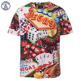 Wholesale Dice Funny - New Arrival Dice Poker Vegas Print Summer Men Women 3D T-shirt Casual O-Neck Fashion Funny Tops Tees