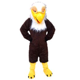 Wholesale Eagle Mascot Costume Cartoon - Brown Eagle Mascot Costumes Cartoon Character Adult Sz 100% Real Picture6678
