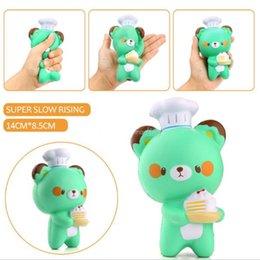 2019 kinder spielzeug paket neue Nette Chef Bär Soft Cartoon Puppe Squeeze Squishy Langsam Steigenden Paket Geschenk Kinder Spielzeug großhandel rabatt kinder spielzeug paket