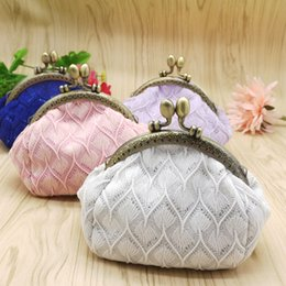 Wholesale Grade Fashion Purses - Women high qualiy shinning girls vinage white coin purse creative buckle coin bag high-grade small gifts clutch bags sgb-006