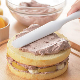 Wholesale Mixer Cooking - Silicone Batter Spatula Cake Cream Mixer Long Handled Models Baking Scraper Kitchen Cooking Tool 6 Color can Choose