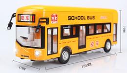 Wholesale London Bus Model - Alloy models single-deck buses in London school bus model car light music back to the bus