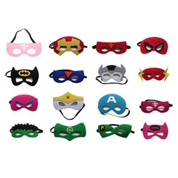 Wholesale Masquerade Mask Kids - kids superhero mask cosplay halloween mask halloween half masquerade masks captain america mask Eye Masks best