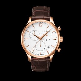 Wholesale Watch Leather Promotion - New Promotion T063 Japan movement watch T0636173603700 Sapphire Glass Watch CHRONOGRAPH Sport Quartz watches Mens luxury brand fashion watch