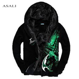 Wholesale Lol Brand - Wholesale- Men Hoodies LOL 3D XXXL 4XL Brand-Clothing Tracksuits Velvet Fleece Warm Thick Sweatshirt Casual Hooded Jackets and Coats MS030