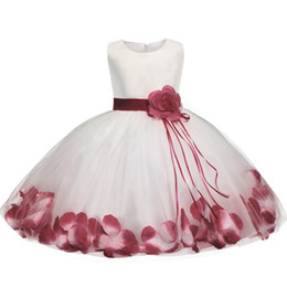 Wholesale wholesale special occasion dresses - Wholesale- Newborn Dresses For Baby Girls Flowers Toddler Christening Gown Kids Special Occasion Wear Infant 1 Year Birthday Dress Clothing