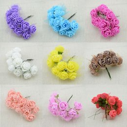 Wholesale Cheap Pink Weddings Rings - Wholesale-144pcs Cheap free shipping DIY mini roses artificial flowers lace wedding flower decoration flower foam hand ring material
