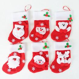 Medias de panda online-24 unids / lote Papá Noel Muñeco de nieve Medias de Navidad Fancy Papá Noel Cubiertos Bolsillos Feliz Navidad Regalo Bolsas de Regalo