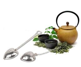 "Wholesale Tea Tube Wholesale - ""Tea Time"" Heart Tea Infuser Filter Balls Stainless Steel Tea Strainers Oblique Tea Stick Tube Infuser Steeper Wholesale"