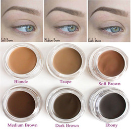 Wholesale Gel Shipping - Hot Eyebrow Gel Pomade Long Lasting Eyebrow Enhancers Cream Makeup Eyebrows Cosmetics 8 Colors Full Size Drop shipping