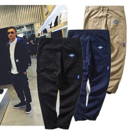 Wholesale Khaki Harem Pants Men - Tide Brand Men's MDNS Pockets Pants Men Drawstring Loose Hip Hop Pants Skateboard Basketball Harem Pants For Men
