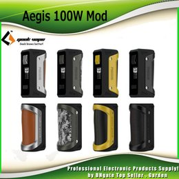 Wholesale Design Cell Battery - Original GeekVape Aegis Box Mod 100W TC Waterproof Shockproof Dust-proof Design Supports 18650 26650 Cell Battery 100% Genuine 2230022