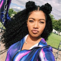 Wholesale Factory Direct Parts - Factory direct sales high density kinky curly lace front human hair wig , 100% virgin malaysian lace front wig free part