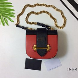 Wholesale Italy Saddle - Fashion Bags Women Cross Body Bags high quality brands Italy Punk Style Genuine leather lady handbags Size 15*14*5 model 169367872