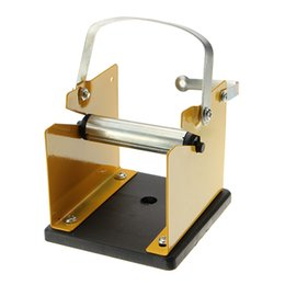 Wholesale Soldering Iron Support - Black Metal Soldering Iron Stand Solder Base Welding Wire Holder Support