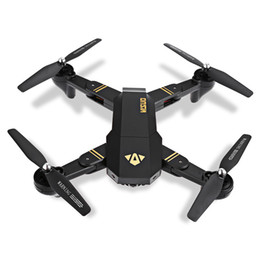 Wholesale Rc Helicopter Photography - 5pcs RC visuo XS809HW 2.4G hovering racing helicopter rc drones with camera hd drone profissional fpv quadcopter aircraft photography