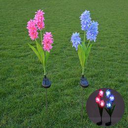 mising waterproof solar power hyacinth lawn led solar light outdoor garden light stake light control landscape