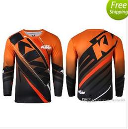 Bicicleta de montaña t shirts online-Recién llegado KTM MOTO GP Motocross Camisetas Mountain Bike Ciclismo Jersey Motociclismo carreras transpiración mecha camisetas