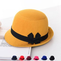 Miglior regalo Autunno e inverno Inghilterra cappello nuovo cappello da  donna arco dolce lana lana lana cappello berretto cerimonia SMB048 cappelli  di ... 4ecde1597eec