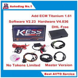 Wholesale Ecu Tune - KESS V2 V4.036 Software V2.30 Ksuite KESS OBD2 ECU Chip Tuning Add ECM Titanium 1.61 Master KESS 4.036 No Tokens Limit