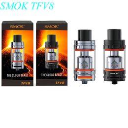 Wholesale Mini Cloud - Quality assurance SMOK TFV8 Atomizer 6.0ml TFV8 Cloud Beast Tank With V8-Q4 V8-T8 Coil Head Best Updated TFV4 Tank mini nano