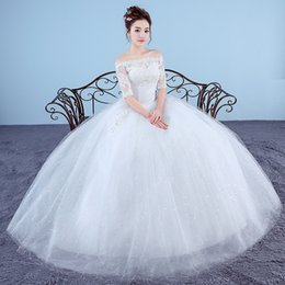 Wholesale Cheap Wedding Gowns China - 2017 New Fashion Embroidery Wedding Dress Crystal Princess Cheap Wedding Gown Made in China Vestido De Noiva Sereia