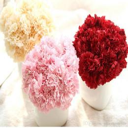 Wholesale Wedding Bouquet Silk Carnations - Wholesale Artificial Flowers Silk Fower 6 Branches Artificial Flower Carnation Bouquet For Mother's Day Gift DIY Wedding Home Decoratio