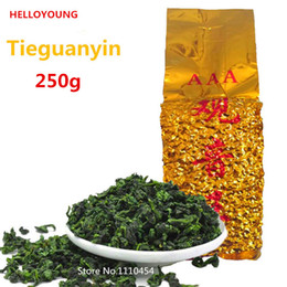 Wholesale anxi oolong tea - C-WL061 Promotion Vacuum packages Premium Fragrant Type Traditional Chinese Oolong Tea TiKuanYin Green Tea Anxi TieGuanYin Tea 250g