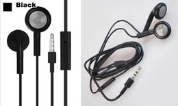 Wholesale I 3gs - Wholesale-Free shipping 1pcs 3.5mm In-Ear Earphone Headphone with Mic For apple iPhone 5S 5 5C 4 4S 3GS I nano Ipad air MP3 MP4 Player