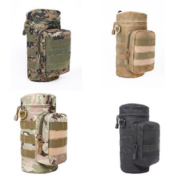 Wholesale water bottle table - Kettle Bag Outdoor Camouflage Waterproof Casual Tactics Package Nylon Water Bottle Pouch Military Pack For Travel Climbing Fashion 16hl F