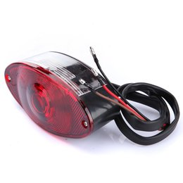 Wholesale Chopper Brake Tail Light - MOTORCYCLE UNIVERSAL CAT EYE REAR BRAKE STOP TAIL LIGHT RED FOR HARLEY CHOPPER