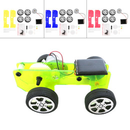 Wholesale Mini Solar Toys - Wholesale-1pc Self assembly Mini Funny Solar Powered Toy DIY Car Kit Children Educational Gadget Hobby Worldwide sale
