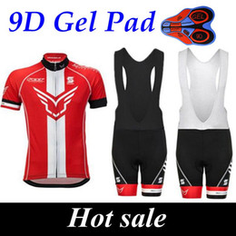 Canada 2017 Felt Summer Style Red Cycling Jerseys Ropa Ciclismo / Breathable Bike Clothing / Quick-Dry Bicycle Sportwear 9D GEL Pad Bike Bib Pants cheap red jersey bib Offre