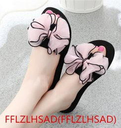 Wholesale Muffin Sandals - 2017 New Summer bohemia Women sandals slippers fashion rainbow leopard muffin sandals home shoes wedge heels beach sandals35---40