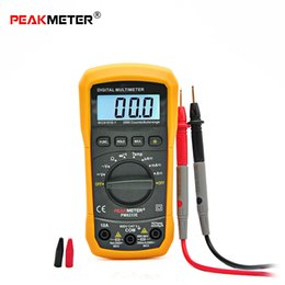 Wholesale Continuity Test Multimeter - PEAKMETER Digital Multimeter Auto Manual Ranging DC AC Voltmeter Thermometer Continuity Diode Test with Back Light +B