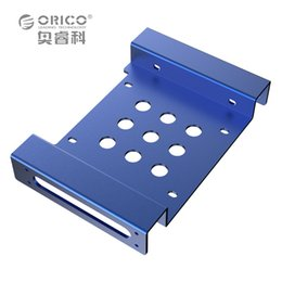 Wholesale Hard Solid Drive Ssd - Wholesale- ORICO AC52535-1S 5.25-Inch Drive Bay to 3.5-Inch Hard Drive Rack SSD Solid Drive Aluminum Bracket - Blue