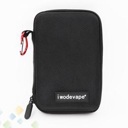 Wholesale tool pocket bag - iwodevape Black Bag E Cigarette Vapor Pocket E Cig Case Portable Small Bag DIY Tool Cases Fit Electronic Cigarette DHL Free