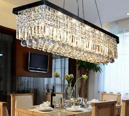 lampadario moderno a goccia a pioggia di cristallo Sconti Dhl libera la nave moderna rettangolo goccia di pioggia lampadario di cristallo per sala da pranzo lampada a sospensione apparecchio di illuminazione