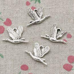 Wholesale Making Birds - 75pcs Charms wild goose bird 20*14mm Antique Silver Pendant Zinc Alloy Jewelry DIY Hand Made Bracelet Necklace Fitting